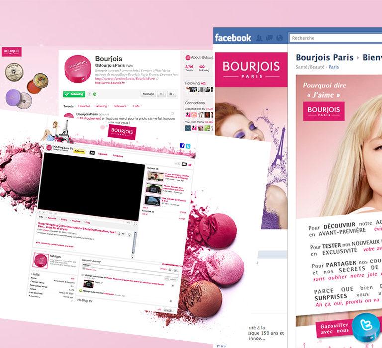 Habillage des réseaux sociaux Bourjois